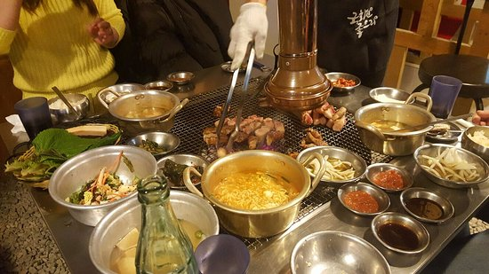 Geoje, Sydkorea: Great choice of food and tastey to boot