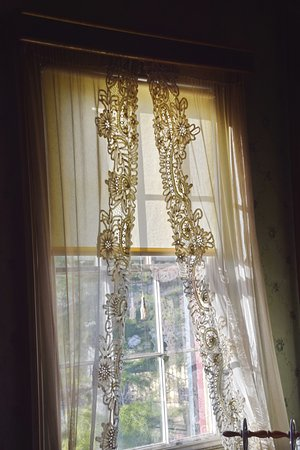 Morristown, NJ: window and curtains