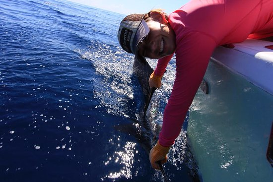 Quepos, Costa Rica: Caught the first sailfish!