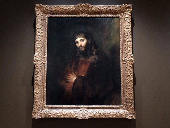 Glens Falls, NY: Head of Christ: portion of a Rembrandt important to the Hydes.