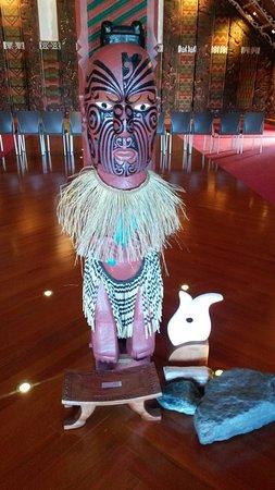 Whakatane, นิวซีแลนด์: Traditional Maori statue