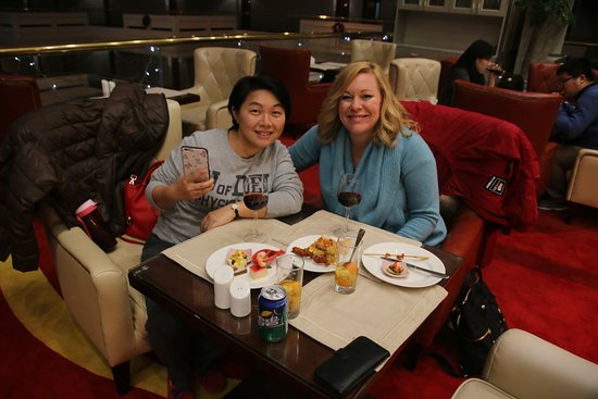 China Culture Tour : Helen- our tour guide in Guilin joined us at the Sheraton Executive Lounge .
