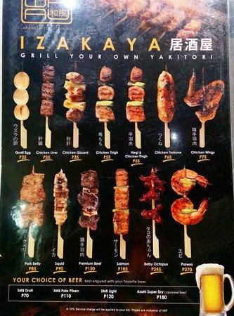 ลูซอน, ฟิลิปปินส์: the yakitori is good