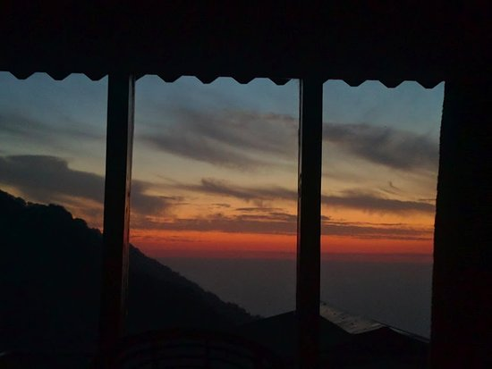 Pangot, India: Sunset view from room