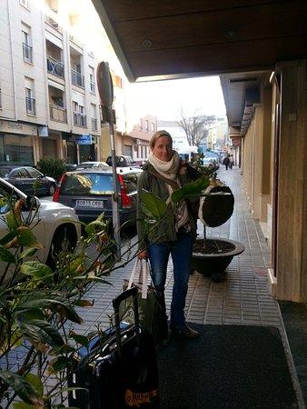 Hotel Torrepalma: Eingang in der Seitenstrasse