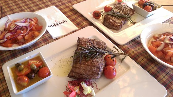 Zilina, Slovakia: Beef steak with tomato salad