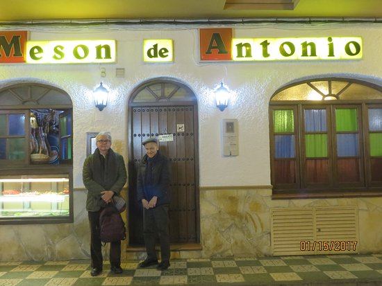 Meson Antonio: outside the restuarant