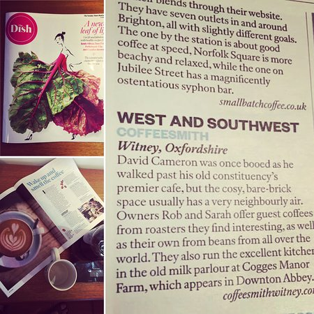 Witney, UK: Proud to be named in the Top 25 UK Coffee Shops by the Sunday Times.