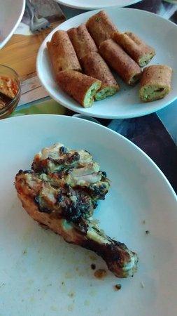 Hotel President: Dahi kabab & Chicken leg kabab