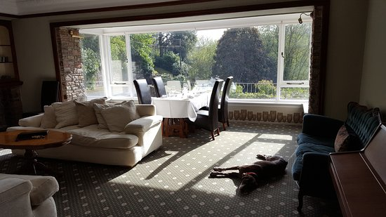 Heddon's Gate Hotel: Guests with dogs can dine in the large lounge