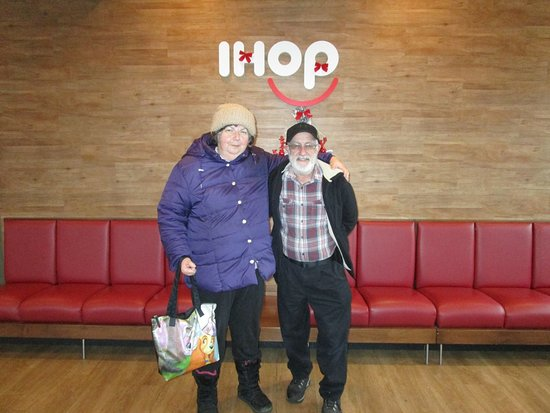 Louis and I at IHOP in East Providence, R.I.