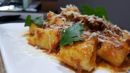 """Redcliffe, Australia: Gnocchi """"au tuccu"""" - Homemade gnocchi with Genoese slow cooked beef sugo"""