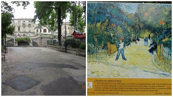 Van Goghu0027s Entrance To The Public Garden In Arles   Then ...