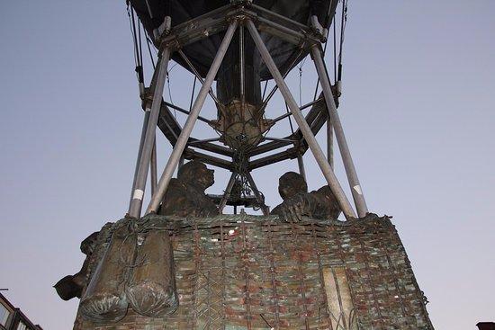 Leuven, Belgium: A statue heading to the sky!