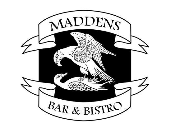 Antrim, UK: maddens bar and bistro logo