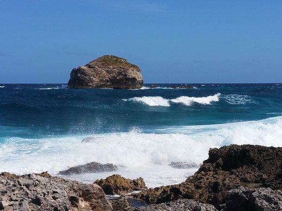 Saint Francois, Guadeloupe: vagues impressionnantes