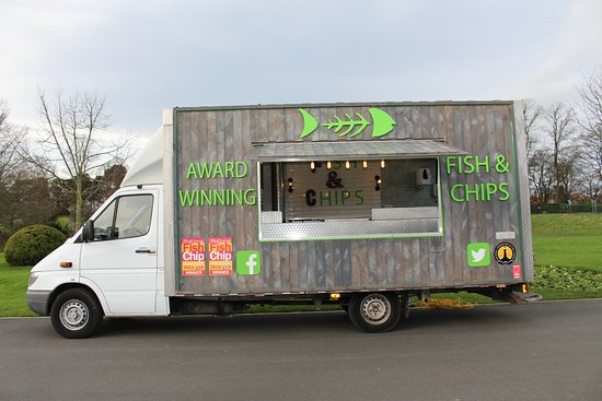 Crewe, UK : The Fish Bar On Wheels - Mobile fish and chips