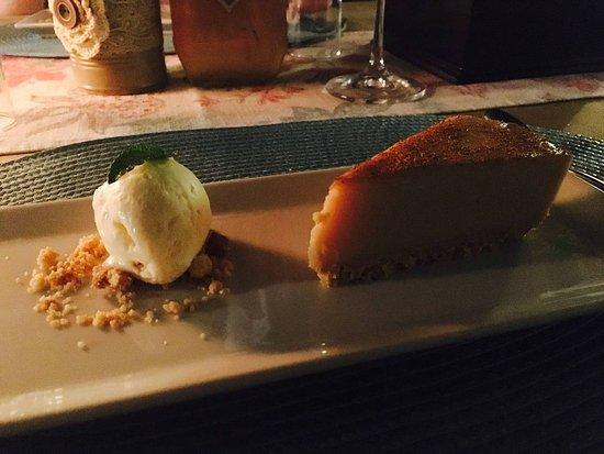 Addo, Νότια Αφρική: Dessert beim abendlichen 3 Gänge Menü