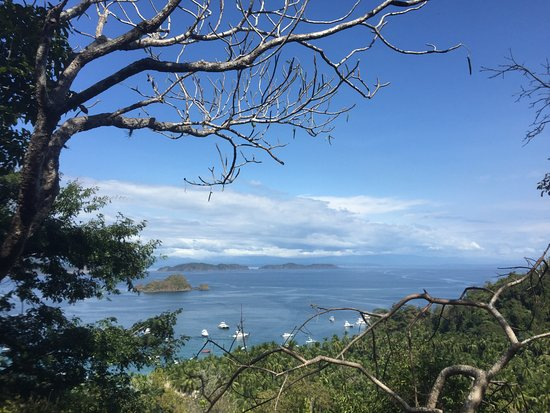 Herradura, Costa Rica: View of the bay from onto of the island