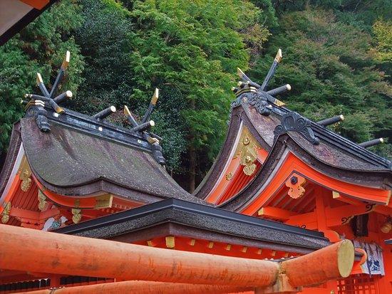 Nachikatsura-cho, Japan: Colourful shrines