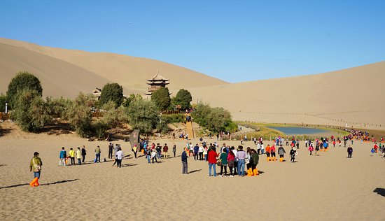 Dunhuang, Chine : Can't see much on leveled ground