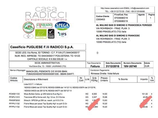 Al Mulino : Provenienza mozzarella Caseificio Pugliese.