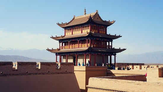 Jiayuguan, China: Part of the compound