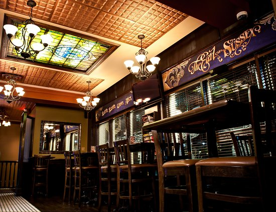 Earl Of Sussex Pub: Stained Glass Ceiling