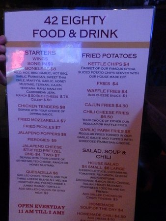 Brunswick, OH: Menu