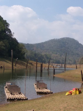 Bamboo Rafting at Periyar Wildlife Sanctuary