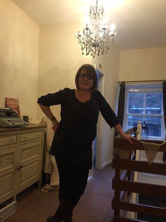 Hebden Bridge, UK: Debbie the Boss!!