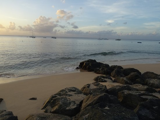 Holetown, Barbados: sunset at the beach