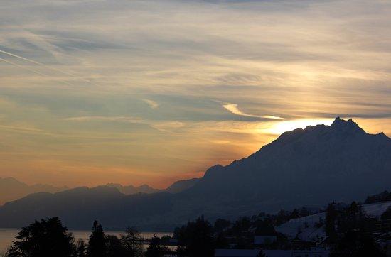 Rigi Kaltbad, Suiza: Abendstimmung und Aussicht auf den Vierwaldstättersee