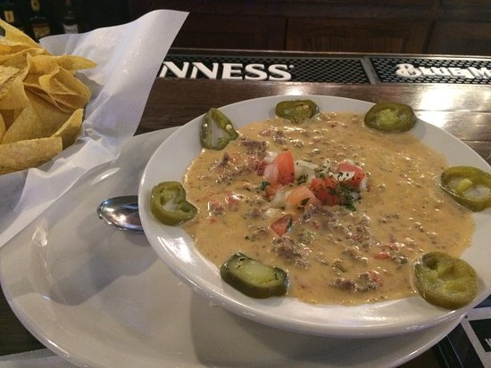 Fort Smith, AR: Loaded Queso ~ with beef, jalapeños and pico de gallo