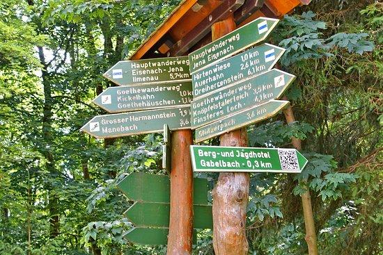 Berg- und Jagdhotel Gabelbach: Viele Möglichkeiten zum Wandern ...