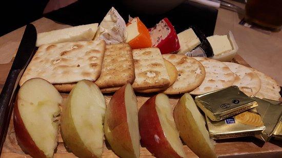 Cardigan, UK: terrific cheese board - tasty!