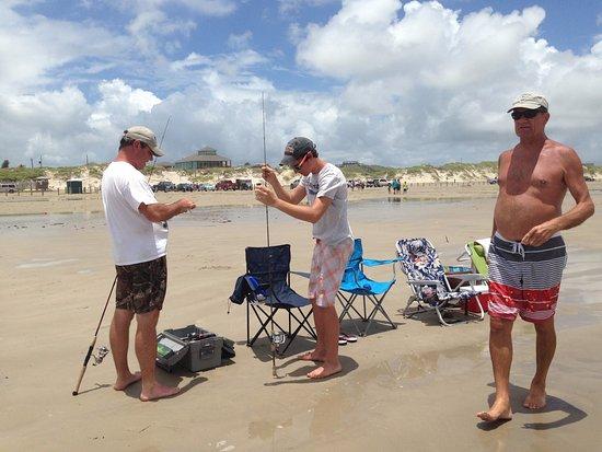 Surfside Beach, TX: going fishing