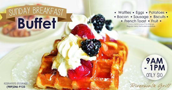 Gladwin, MI: Our Sunday Buffet is great for a quick, complete breakfast!