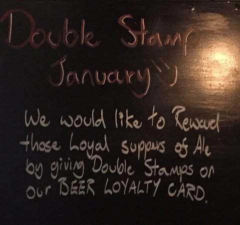Ilkley, UK: Double Loyalty Stamps in January!