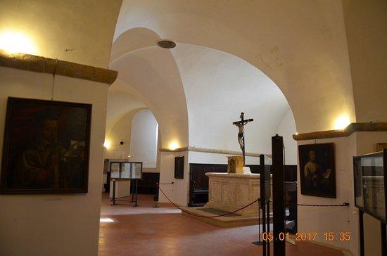 Pienza, Włochy: interno della struttura