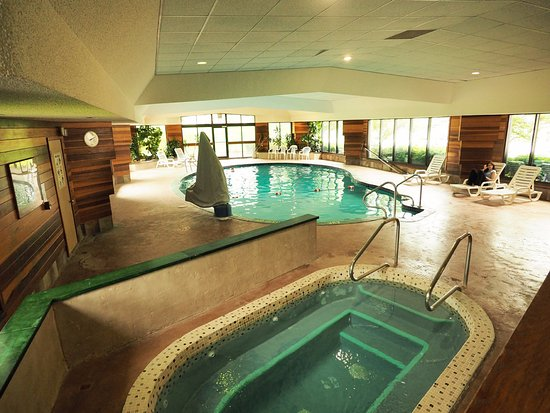 Evergreen Resort: Enjoy our pool, Jacuzzi, and sauna