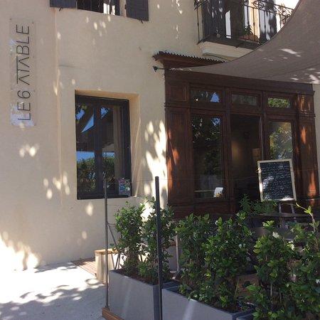 Caromb, ฝรั่งเศส: Entrée du restaurant