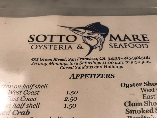 Sotto Mare Oysteria & Seafood: photo1.jpg