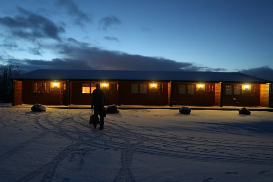 Laugarvatn, Island: Rooms 6 to 10 at dusk in winter