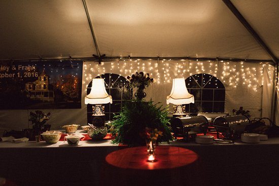 Hunter, NY: A view of the Food Table - Rehersal dinner