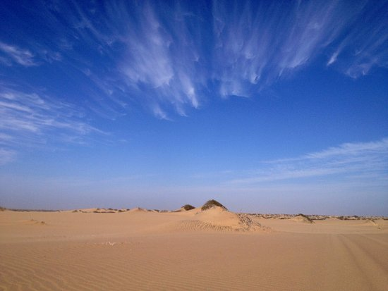 Walvis Bay, Namibia: Panorama of Sandwich Harbour