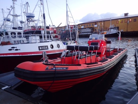 Henningsvaer, Norway: The RIB we were going with.