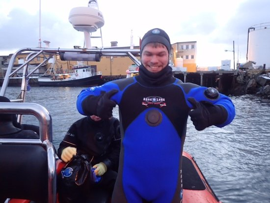 Henningsvaer, Norway: Ready in the drysuit.