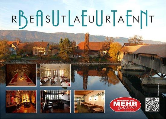Buren an der Aare, สวิตเซอร์แลนด์: Flyer Restaurant Bauleuten