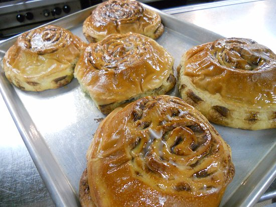 Mishawaka, IN: Fresh baked cinnamon rolls - we make 'em up ourselves.